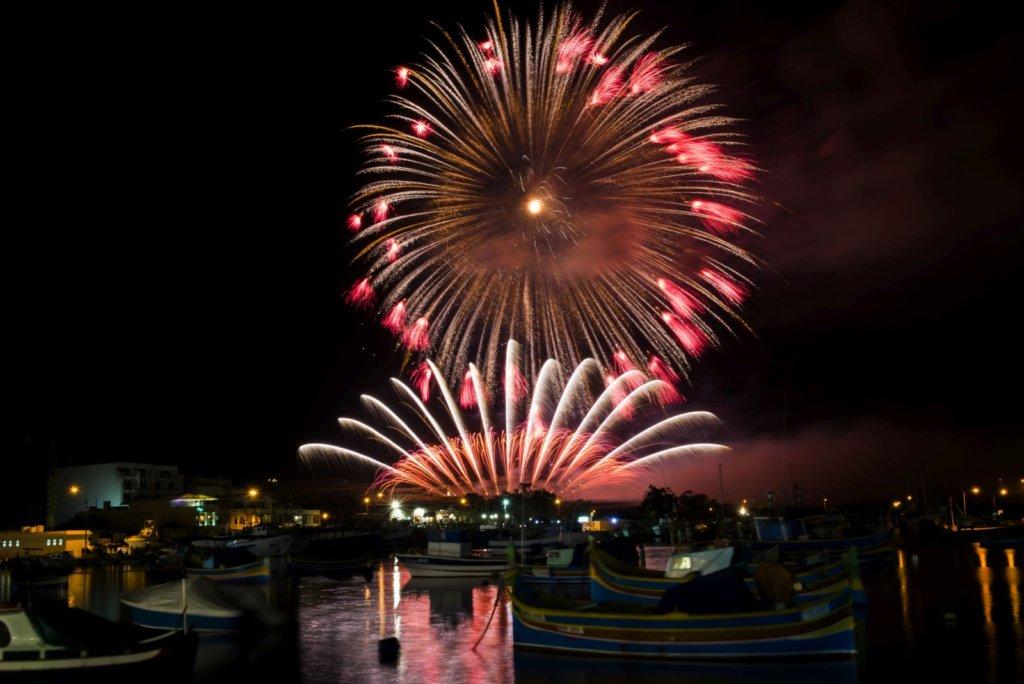 Festival de feux d'artifice à Marsaxlokk