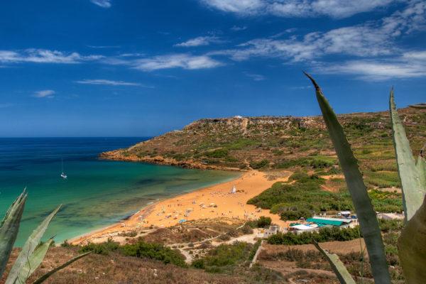 Plages de sable à Malte, Gozo et Comino