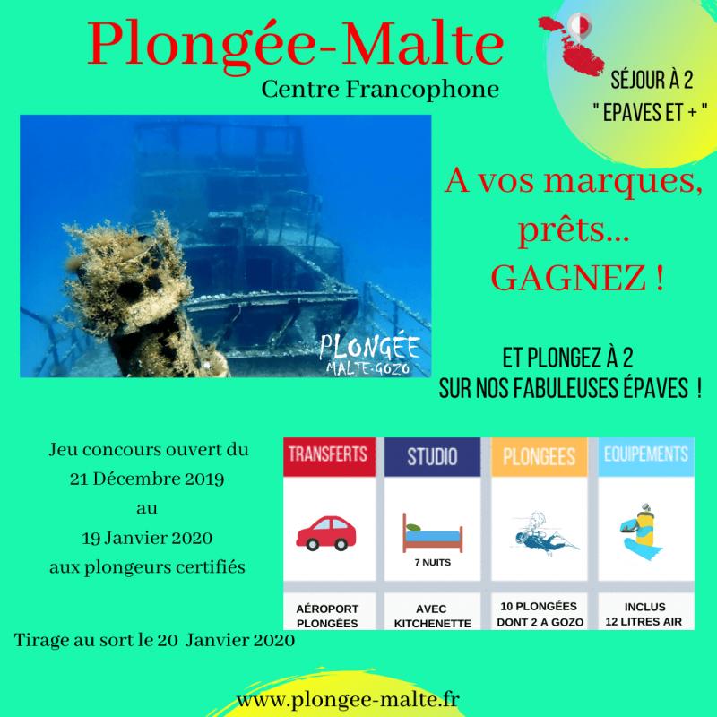 Gagnez un séjour plongée avec Plongée Malte