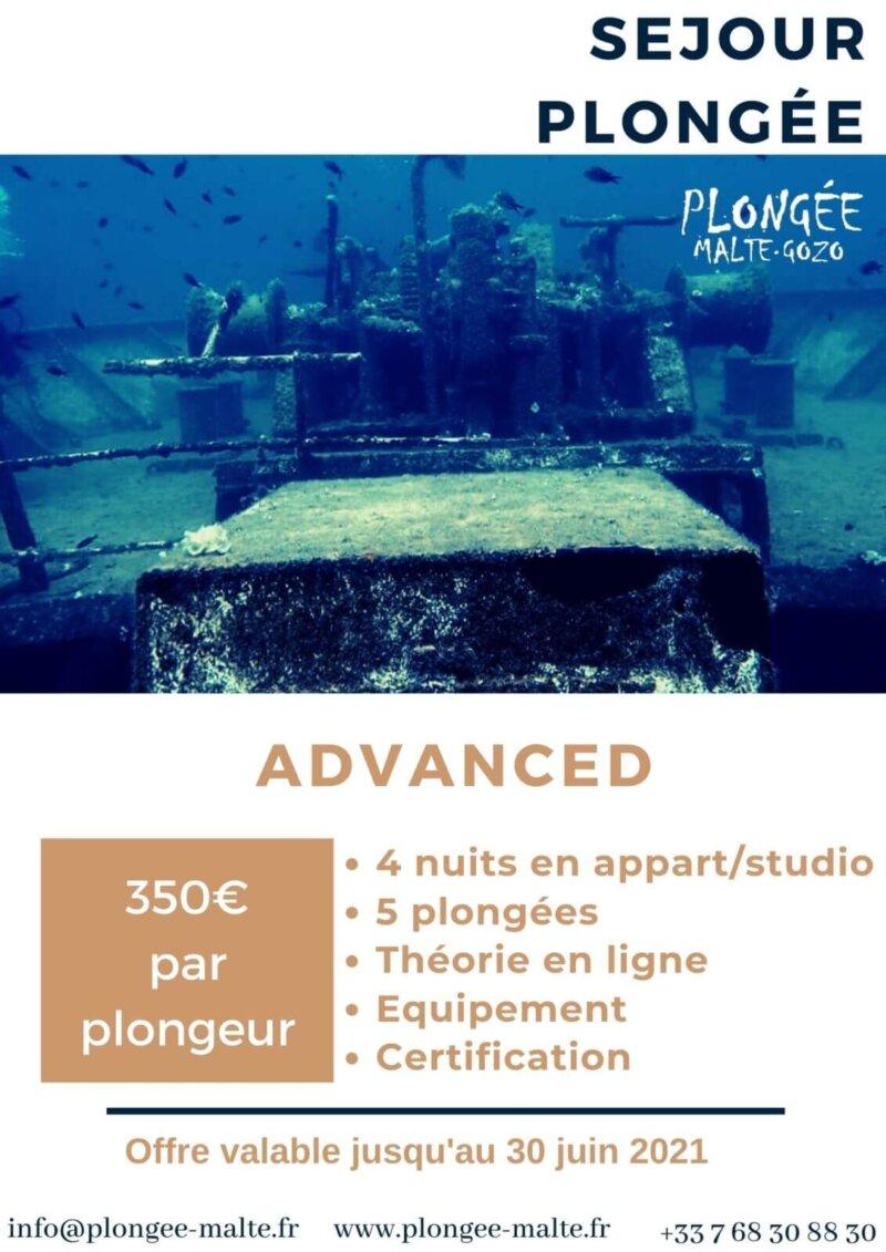 Passe ton Advanced Open Water, hébergement inclus !