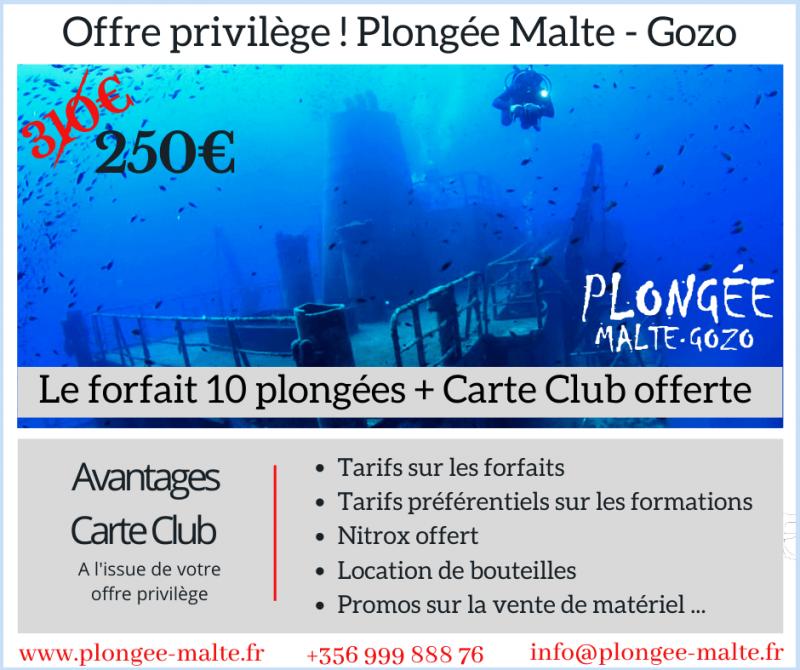 Offre pack 10 plongées avec Plongée Malte