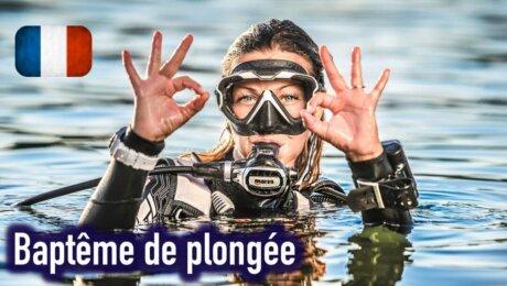 Baptême de plongée en français !