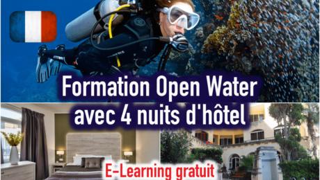 Open Water + Hôtel 4 nuits (à partir de 2 personnes)